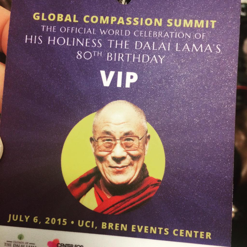 We have arrived. #GlobalCompassionSummit #HappyBirthday @DalaiLama http://t.co/ajS0nmi7UB