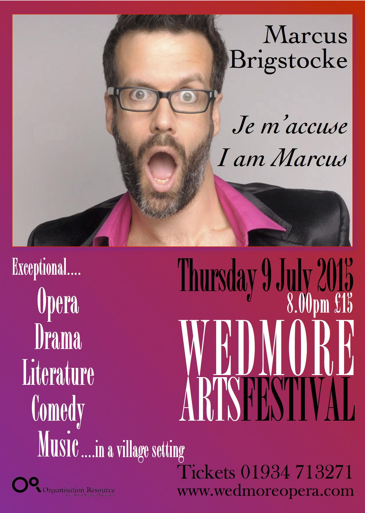 RT @ArtsFestWedmore: @ComedySouthWest Not long to wait! @marcusbrig Marcus Brigstocke in #Wedmore Thursday at 8 Tix http://t.co/WHwifrsgJC …
