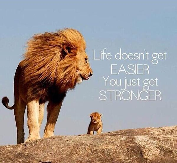 Life doesn't get easier. You just get stronger. http://t.co/LmTqD9UkYa