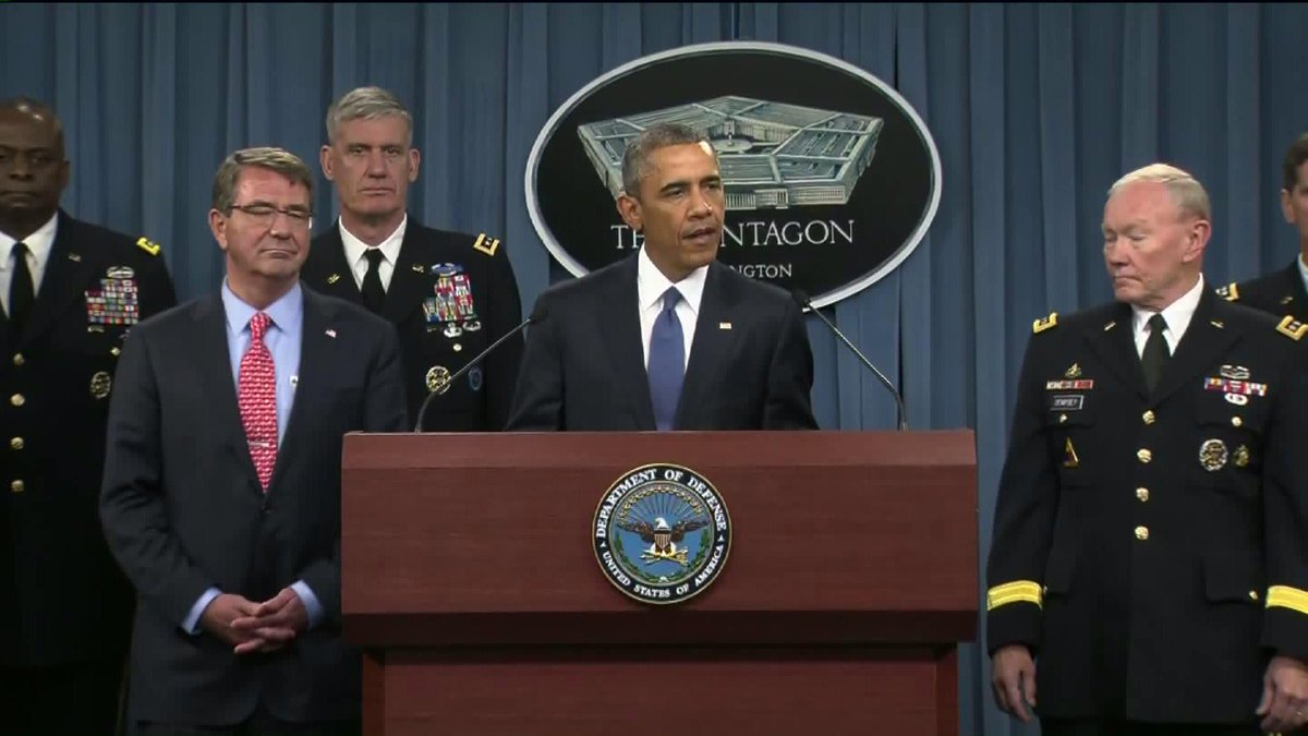 POTUS podium Pentagon briefing Live announcement KTLA | KTLA