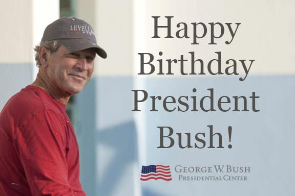 Thebushcenter On Twitter Happy Birthday President Bush