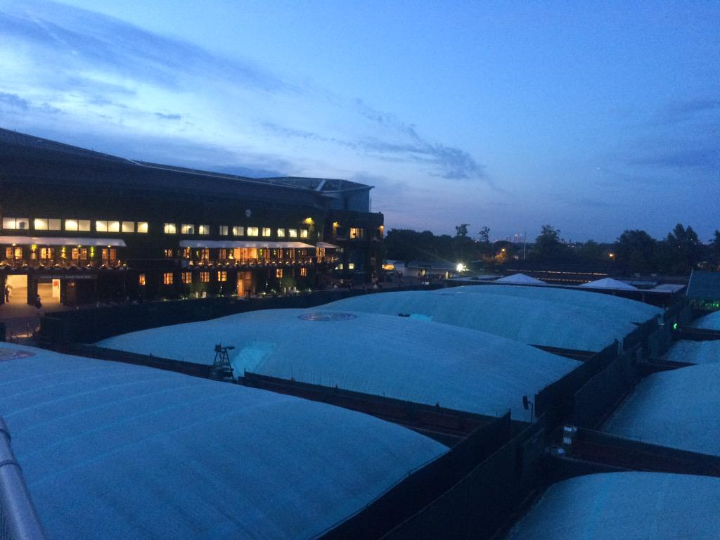 The end of day 7 #wimbledon #covers http://t.co/M9UtrCeBBU