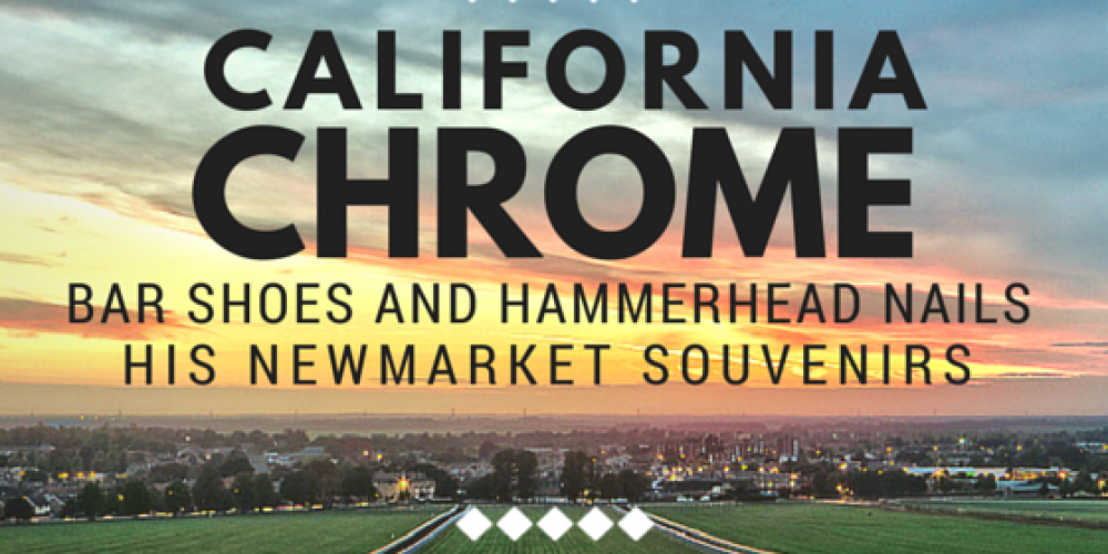 #californiachrome coming home shod w/English souvenir shoes! http://t.co/fEplzmtnC3 #farrier details http://t.co/cUw4A60abB