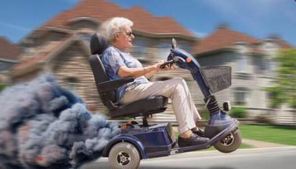 Image result for motorized scooter grandma