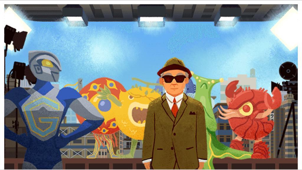 il padre di Ultraman e Godzilla Eiji Tsuburaya nel doodle di Google di oggi 7 luglio 2015