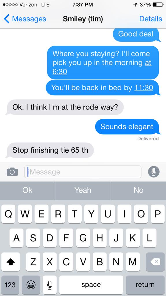 Good chat with my caddie. Motivational. http://t.co/hfszDbEbpe