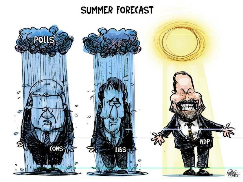 This summer's forecast calls for orange skies. Long range looks like a progressive government. #NDP #TM4PM #cdnpoli http://t.co/10opou8K2b
