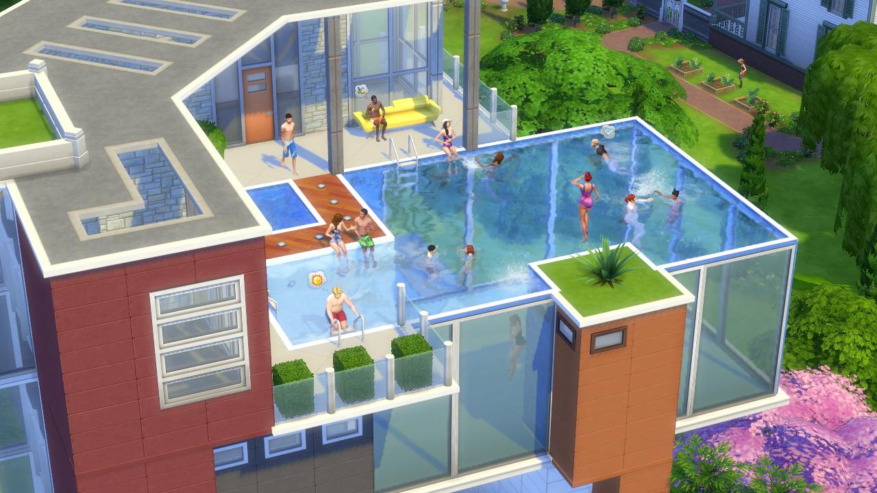 Ea singapore on twitter post your coolest weirdest for Sims 4 piscine a debordement
