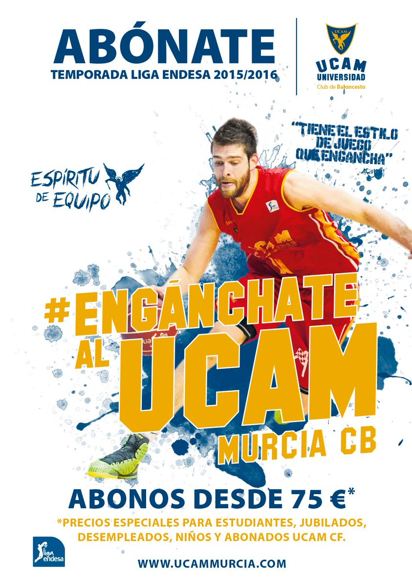 "UCAM Murcia on Twitter: ""�Quieres seguir viendo a Mr. Gancho ..."