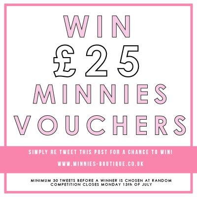 WIN £25 MINNIS VOUCHERS! Re Tweet this post for a chance to win! xx http://t.co/pcGBPqGuH1