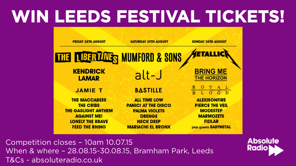 Fancy going to Leeds Festival this year? Well RT this and follow us to be in with a chance... @OfficialRandL http://t.co/U1tnxJEWVq