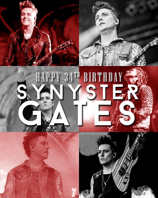 Happy birthday SYNYSTER GATES aka the sexiest man alive! #HappyBirthdaySynysterGates @TheOfficialA7X http://t.co/9Ml9zlhYFZ