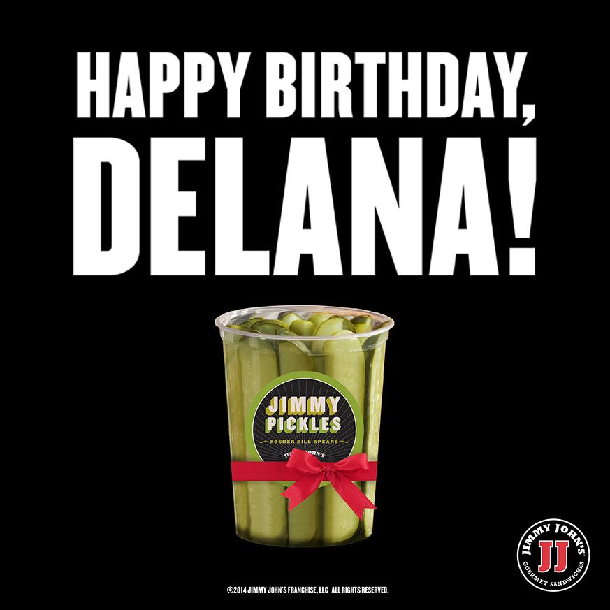 jimmy john s on twitter happy birthday delanaharvick you re kind