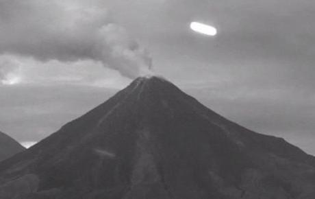 Avvistamento UFO Vulcano Colima Messico VIDEO FOTO