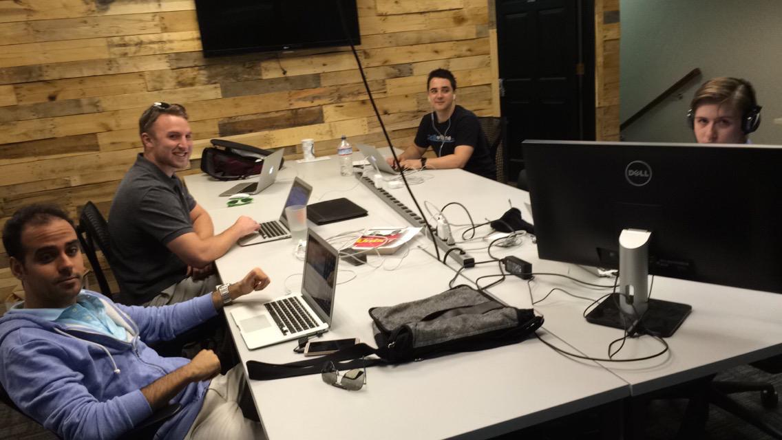 Picture of MaxCDN marketing team at the Vegas office