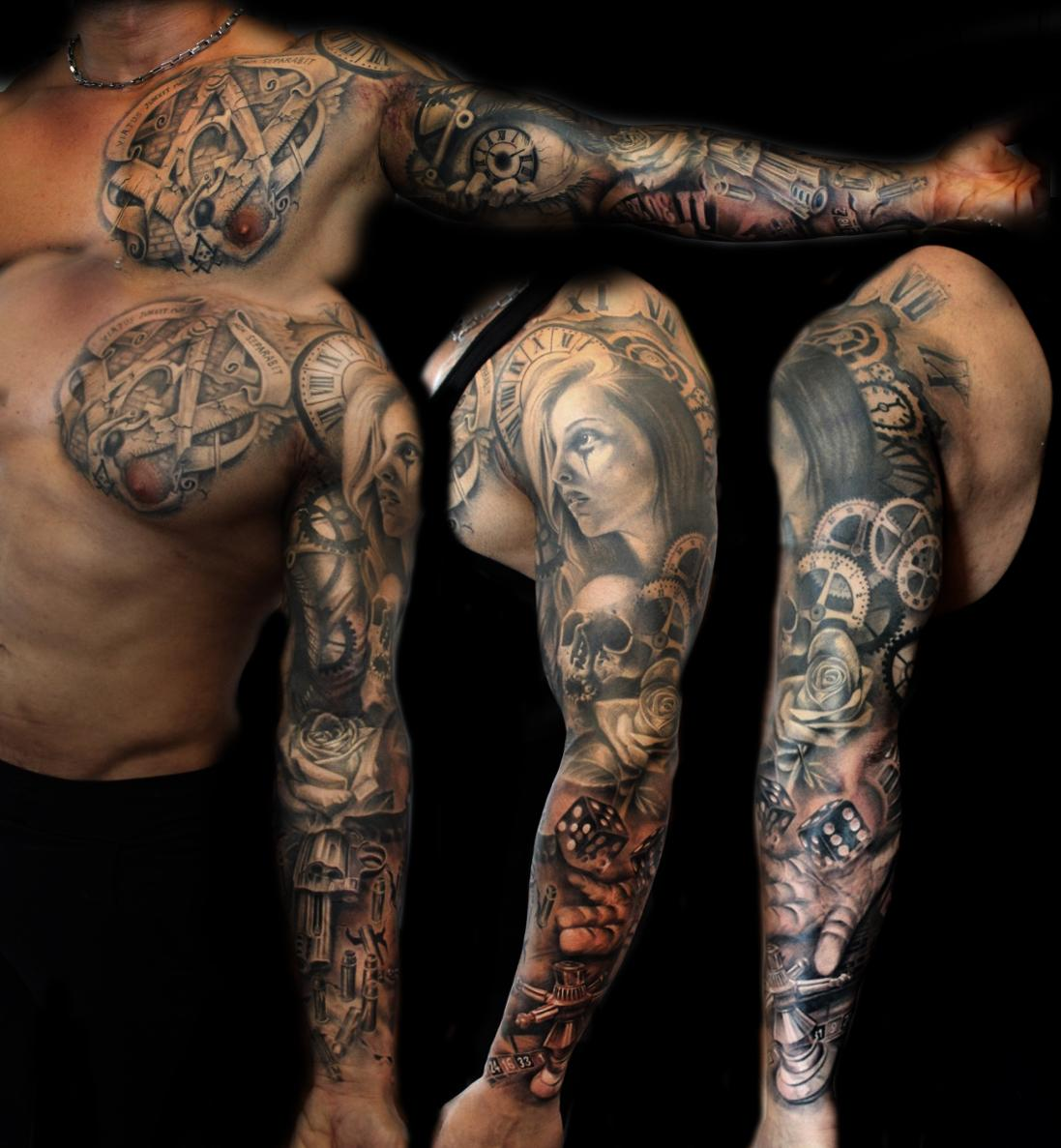 "Puedmag Inkpire on Twitter: ""Black and grey sleeve by Luis ...