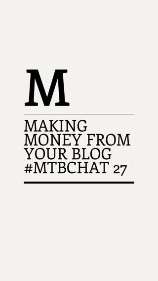 In 45 minutes it's time for our bloggerchat 'Making Money from your blog' #MTBchat http://t.co/Ut5VSPJOlN