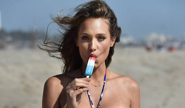 Girl Sucking A Popsicle