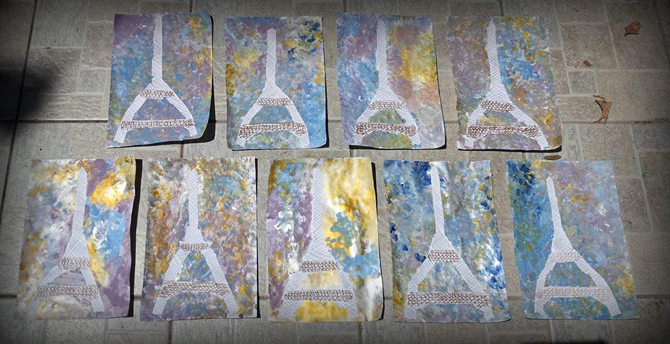 Eiffel tower crafts for kids eiffel tower craft what can for Paris themed crafts for kids