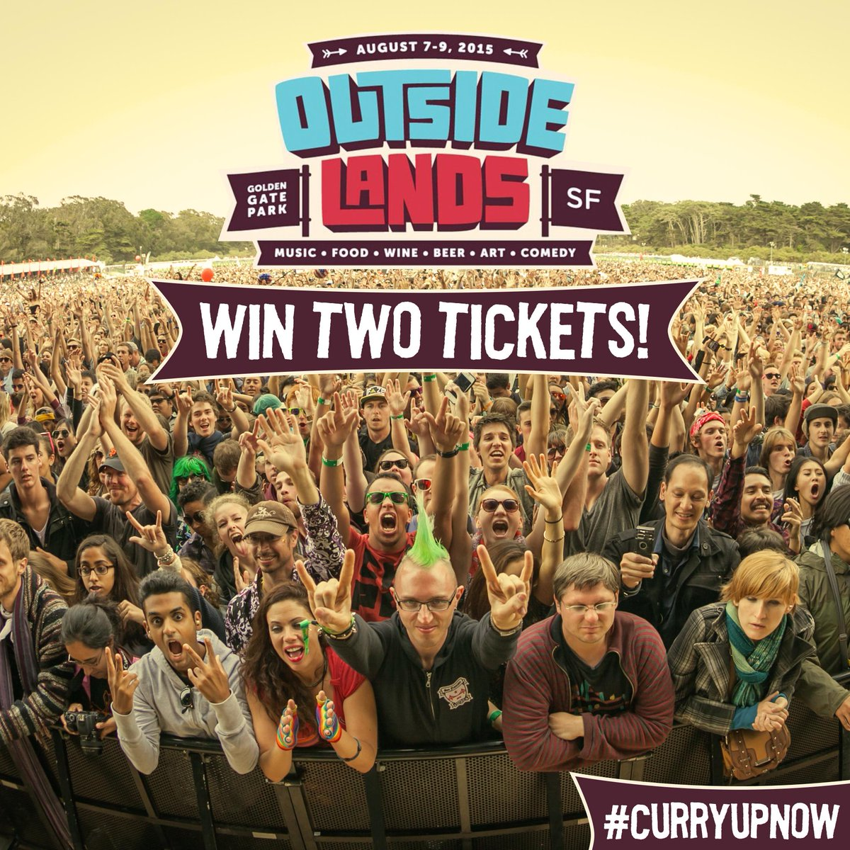 WIN 2 TICKETS to sold out @outsidelandssf - 1. Follow us, 2. Repost, 3. Tag us & #curryupnow. Winner announced Thurs! http://t.co/czPjIh68R9