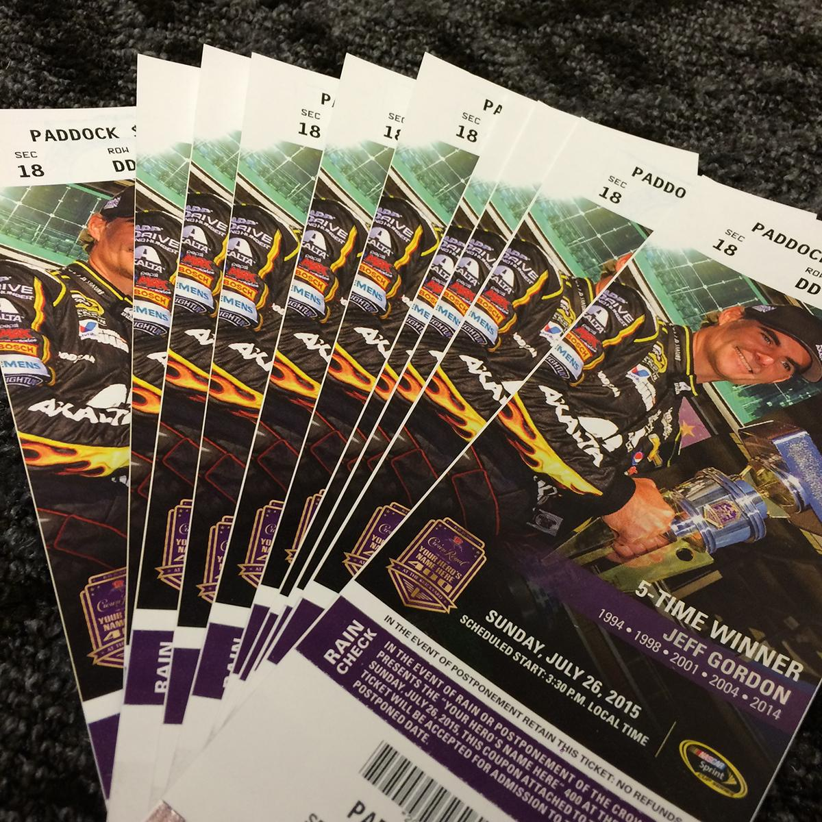 Retweet and follow me to win a pair of tickets to the #Brickyard400 at @IMS. Winner picked in 4 hrs. #WinItWednesday