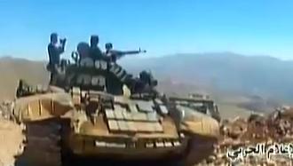 الدبابه T-55 السوريه ودورها في الحرب القائمه هناك  CJVpoekUMAA-d80