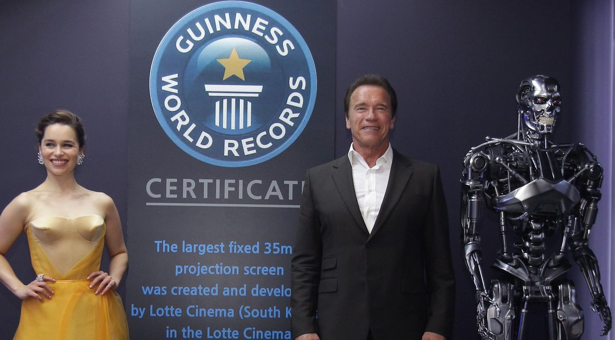 @Schwarzenegger finishes worldwide @Terminator tour. 54k miles, 9 countries & 5 continents. #ActorTourRecordBreaker http://t.co/HM5nw3FJnr