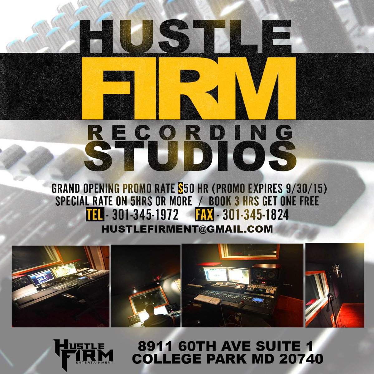 Grand opening specials... (@ Hustle Firm Entertainment, LLC - @hustlefirment) https://t.co/FtMb8Oc4SD http://t.co/gzrhTPh0c8