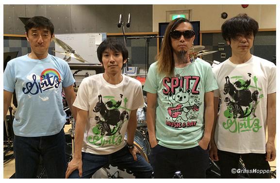 スピッツTシャツを着たスピッツ