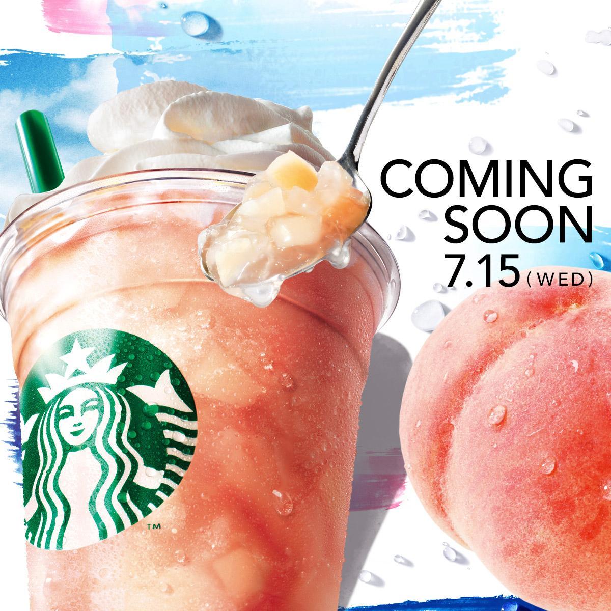 7/15(水)から『ピーチ イン ピーチ フラペチーノ®』が新登場!My Starbucks会員の皆さまには、夏を彩るグッズやフードなどの詳細な情報をひと足早くご紹介します。  http://t.co/freHIrEDAw http://t.co/7o5yYNrtpV