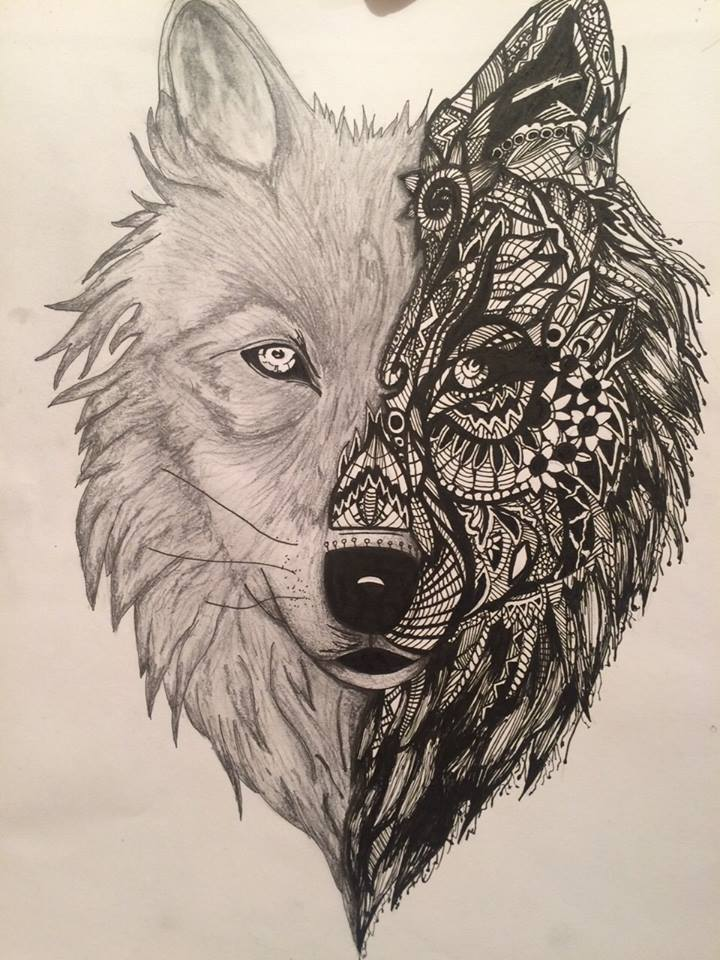Gallery For gt Abstract Wolf Drawing