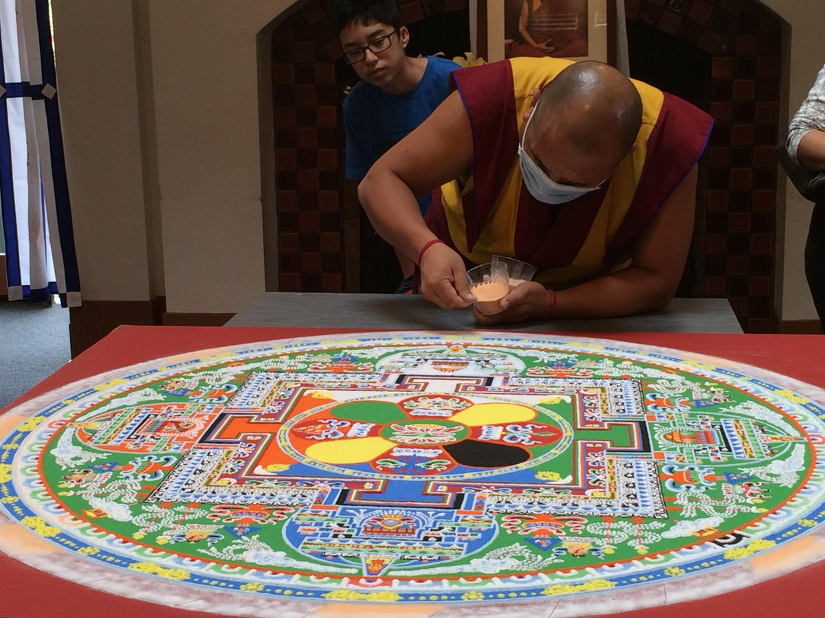 Wow -- 2 monks spent 10 days designing a sand mandala for the Dalai Lama's 80th birthday http://t.co/yfYnQGdVYF http://t.co/6NztR7Dp3k""