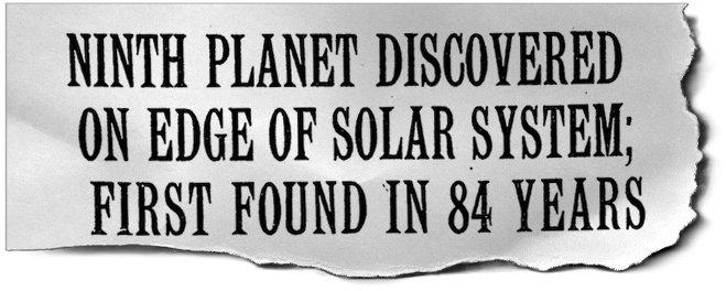 Discovery Of Pluto: The Discovery Of Pluto