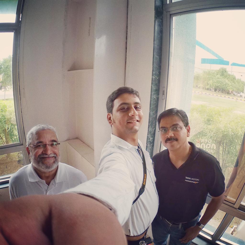 The Men behind the Tata Nano. #GenXNano #TheChosenOnes Mr. Girish Wagh & Mr. Hemant Kulkarni @tatanano_tweets http://t.co/x1dq8qBnUi