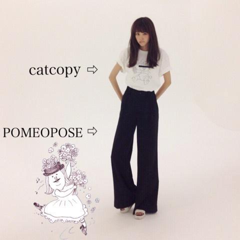 シンプルコーデの私服の桐谷美玲