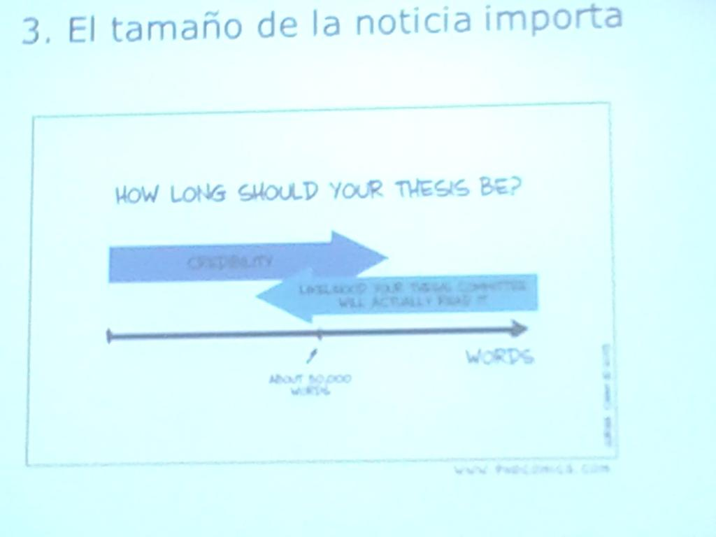 How long should your thesis be? #elcanotalks @benedictosolson http://t.co/yq6WJrar2i