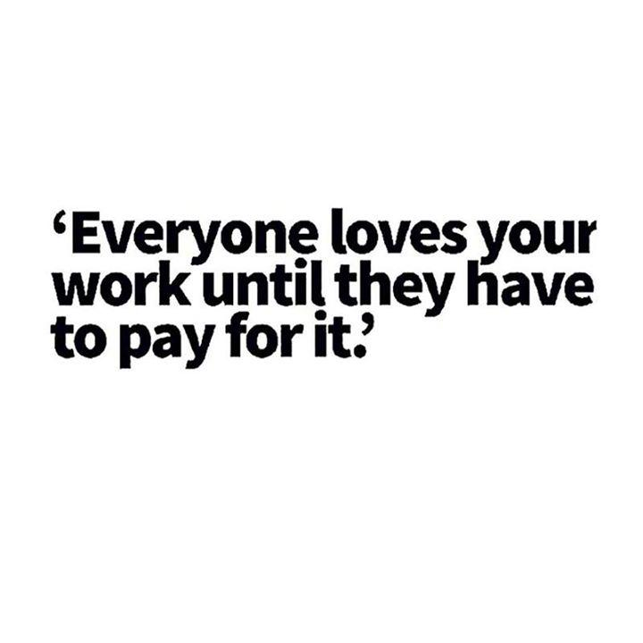haha! @tweatmeat nails it: 'everyone loves your photography until they have to pay for it' http://t.co/6g0WM6qg0A