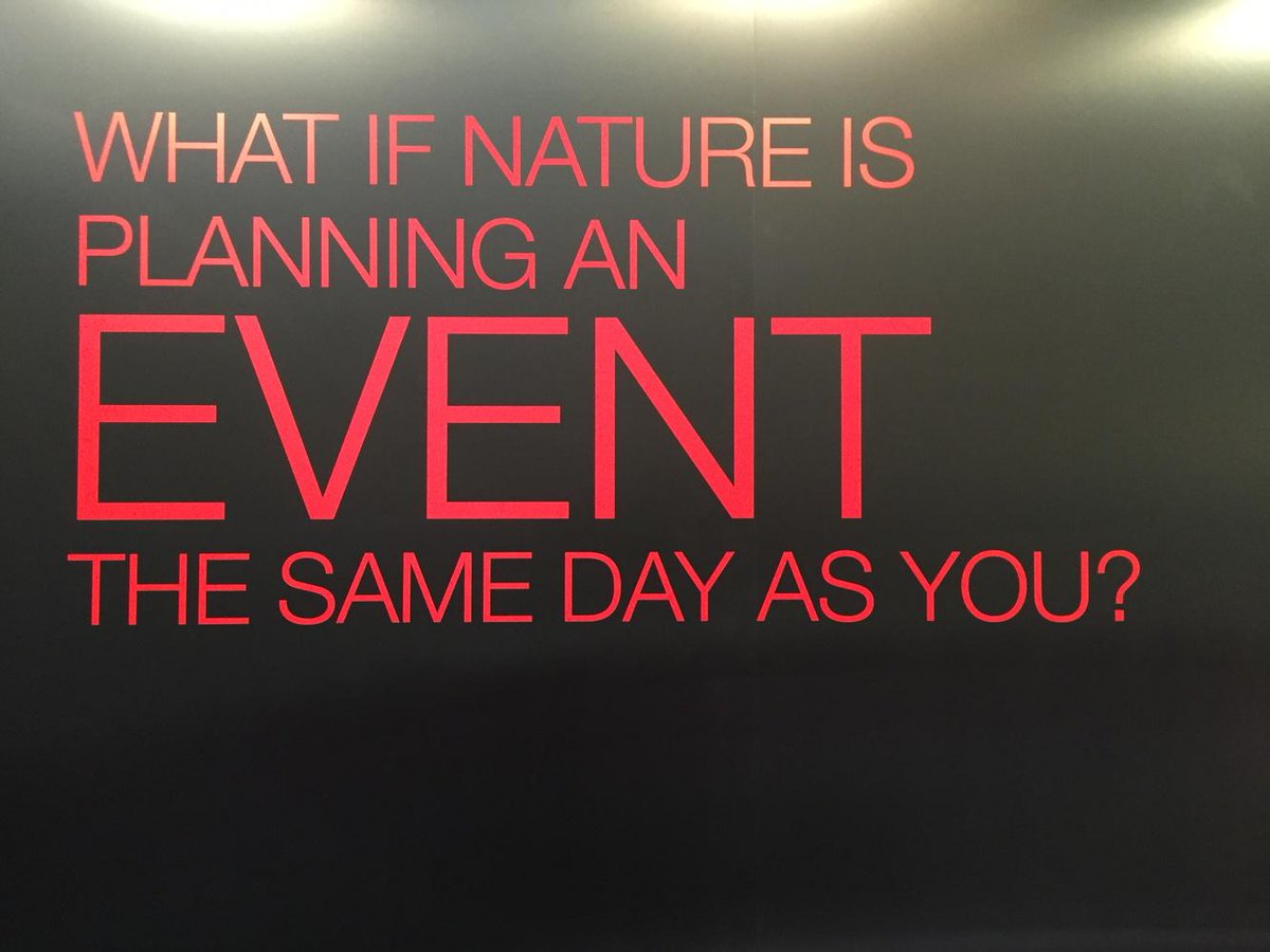 """Never seen @tfl described as """"nature"""" before, but strangely apt strapline from @hiscoxuk #tubestrike #tms15 http://t.co/PkgS6pAppM"""
