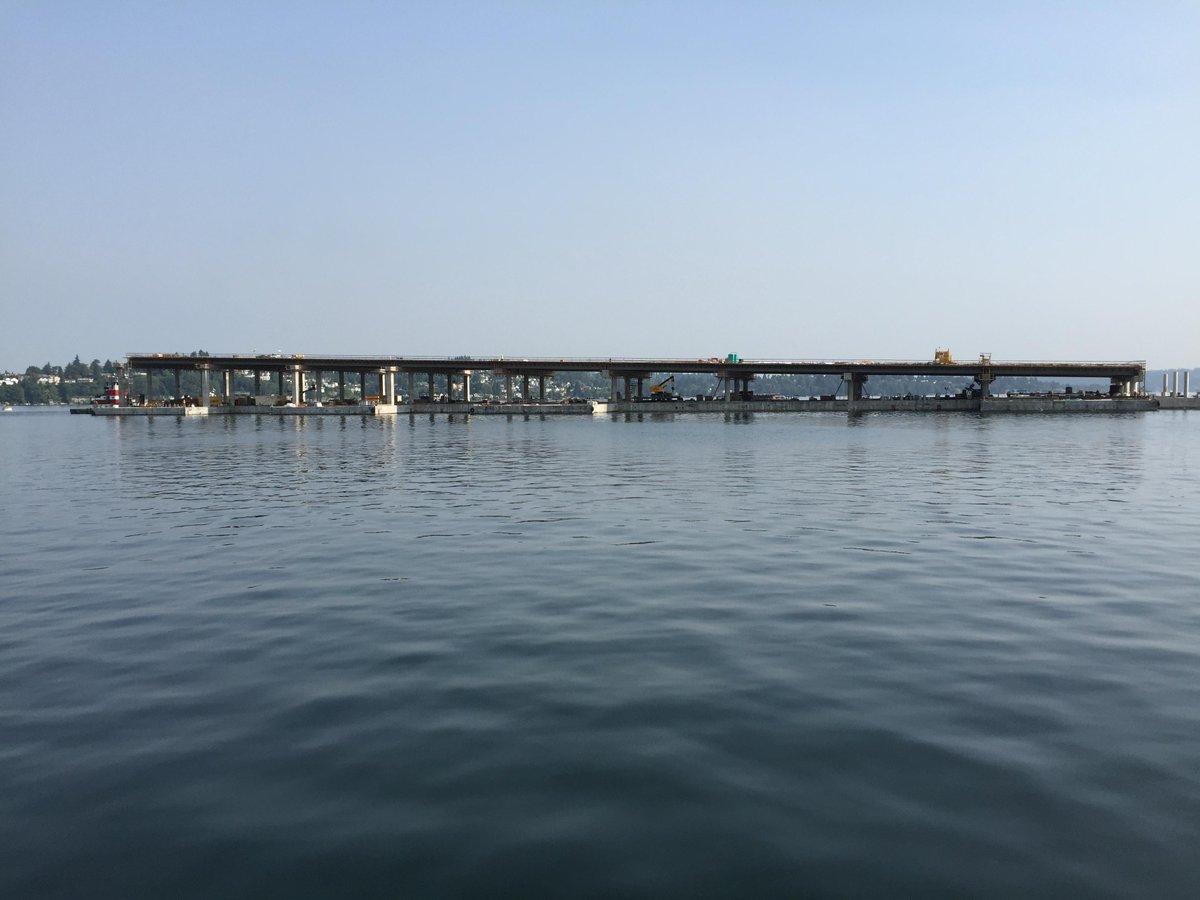 Thumbnail for Final 520 longitudinal pontoons move into place