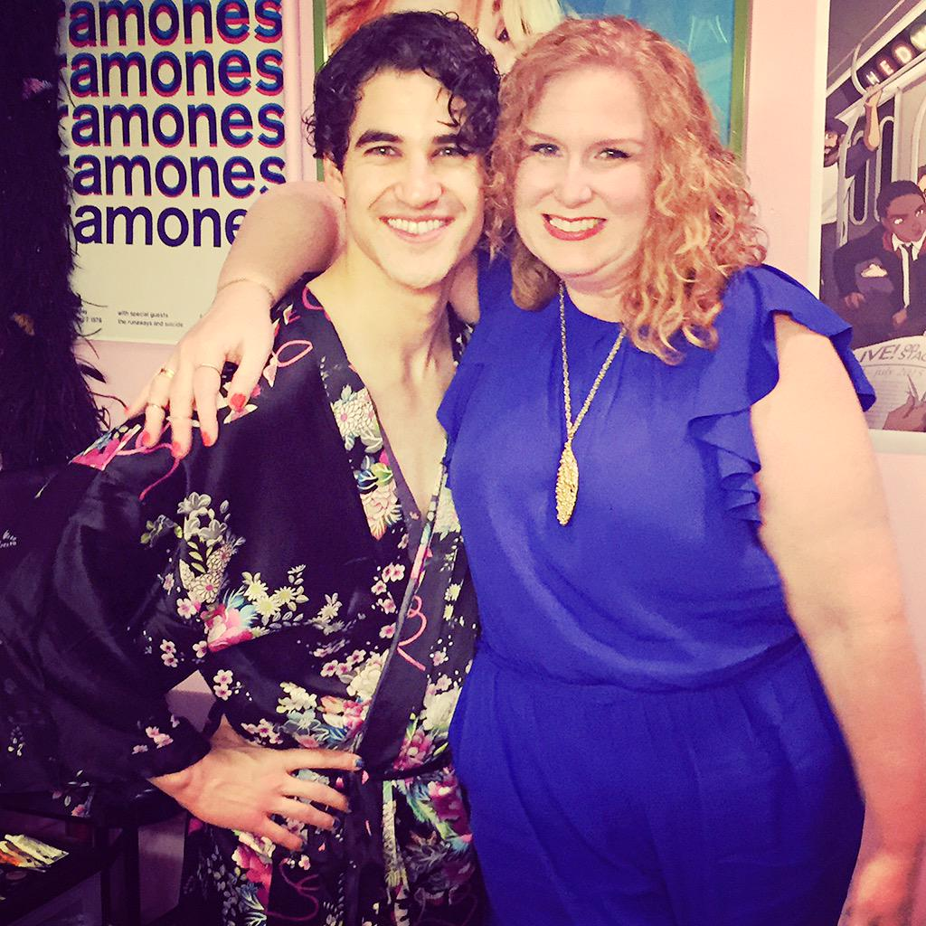 Saw @darrencriss KILL it as #Hedwig! Loved our dressing room catch up after, THX Darren!!