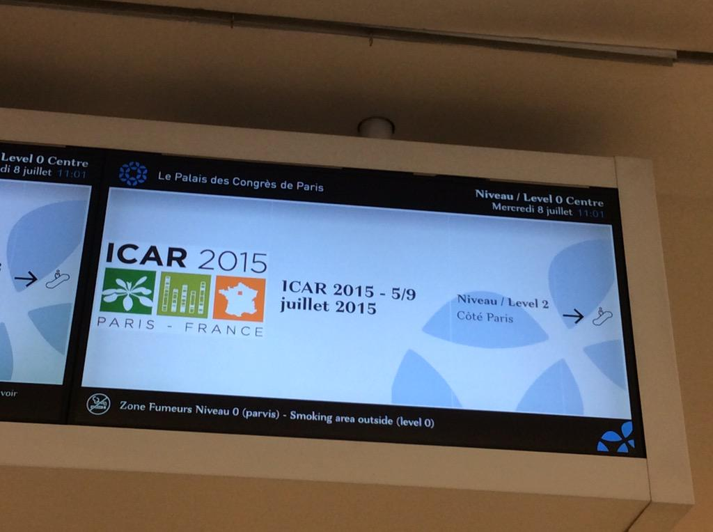 1000+ participants, 700+ posters & 200+ communications in Paris at #ICAR2015 on A. Thaliana http://t.co/vg7Ku6V6aZ