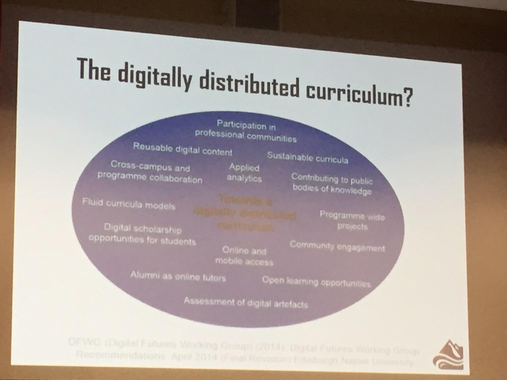 The digitally distributed curriculum