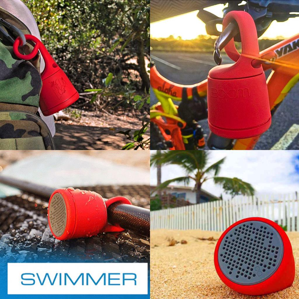 Our @boommovement Bluetooth Swimmer is Bike,Boat,Backpack & Beach ready! Follow&RT 4 chance to win #Speaker #Giveaway http://t.co/vbuWCSBPfe