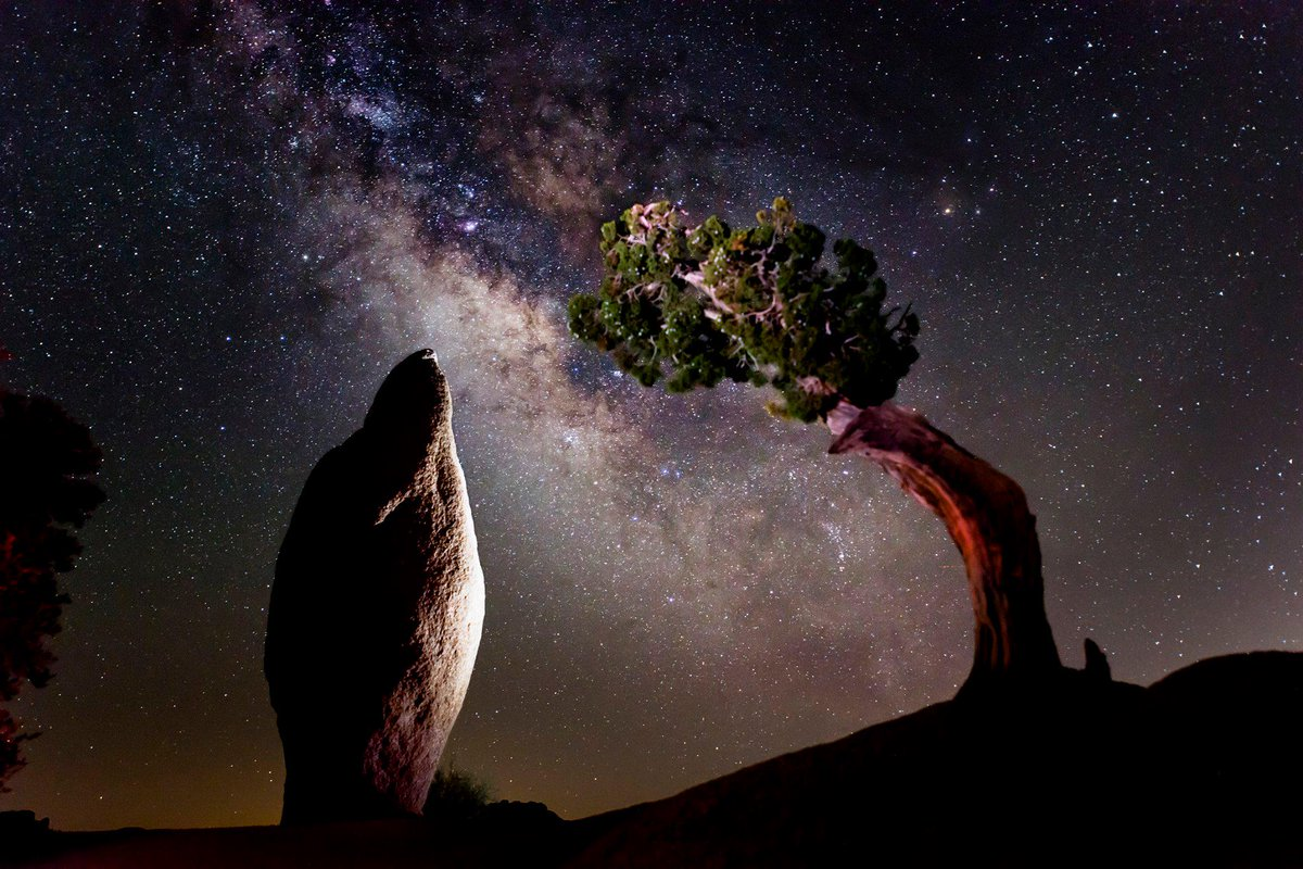 Milky Way viewed from Joshua Tree National Park, via Department of Interior Twitter feed: There is some spectacular stargazing to be had @JoshuaTreeNP in #California. #MilkyWay