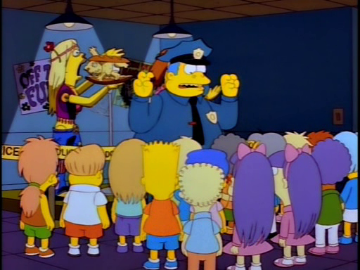 """""""That's right, she's got the 'munchies' for a 'California Cheeseburger'."""" - Chief Wiggum http://t.co/1A6QWA9kPr"""