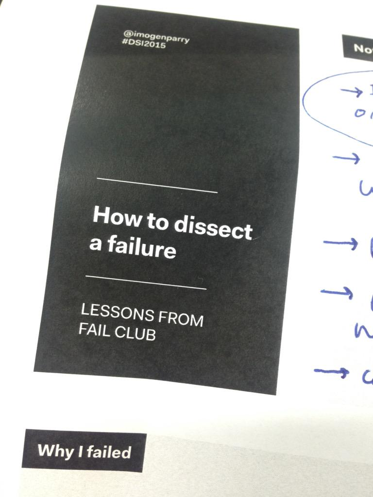 Dissecting failure with @theinfographers @DSI2015 #dsi2015 http://t.co/EuWlsH5aAQ