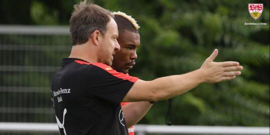 #SereyDie is back in training.  After his international duties he had extended vacation & returned today to #VfB team<br>http://pic.twitter.com/RxJx1Xvxzo