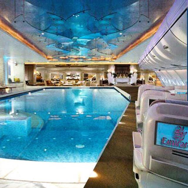 the gallery for airbus a380 first class swimming pool