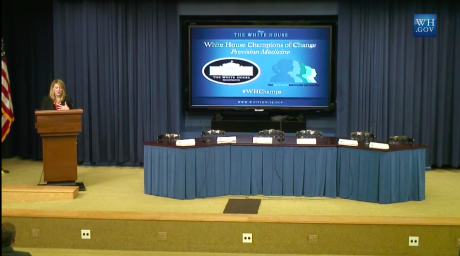 #WHChamps @WhiteHouse has started! Watch the live feed http://t.co/LODvjarObX #PrecisionMedicine @ReginaHolliday http://t.co/0kVgLjOCf4