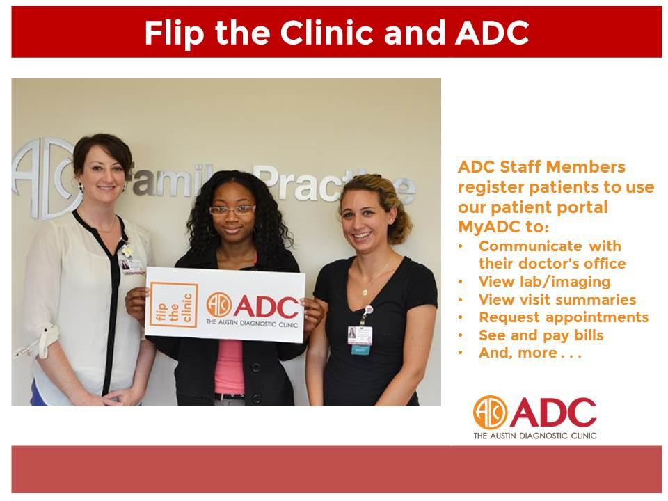 We're working to improve Patient Engagement through MyADC #patientportal @FliptheClinic #WHChamps #PrecisionMedicine http://t.co/IILIY48ZyI